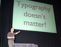 Typography doesn't matter