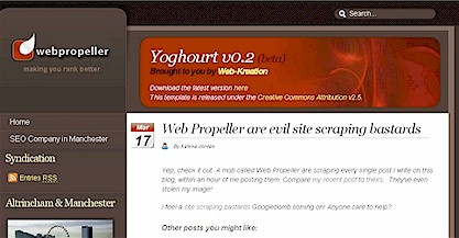 Web Propeller evil site scraping bastards