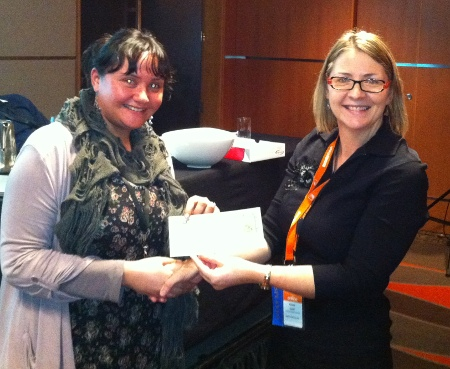 voucher presented to winner of SEC training courses