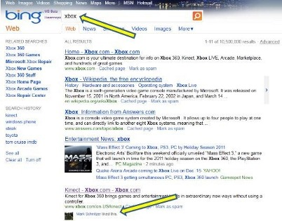 facebook like in bing serp
