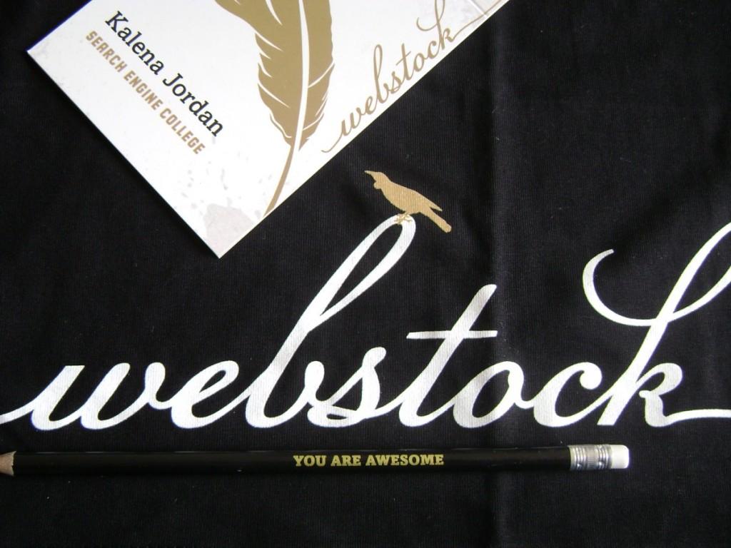 Webstock swag
