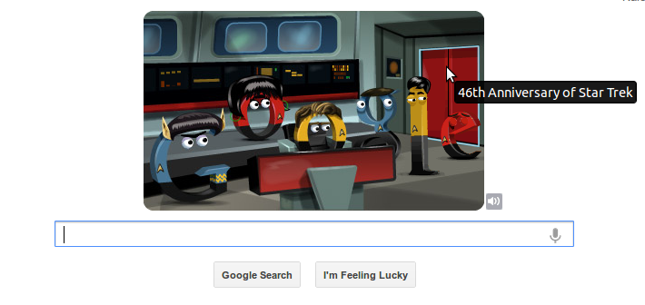 Star Trek anniversary Google doodle