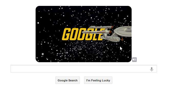 Google Doodle Star Trek anniversary
