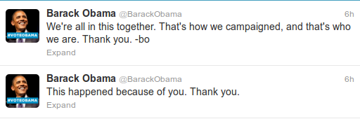 President Obama claims victory on Twitter