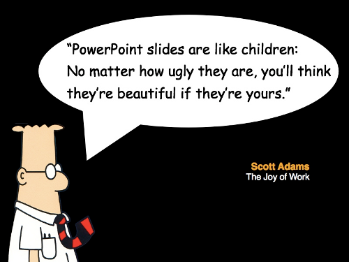 Dilbert on Powerpoint presentations