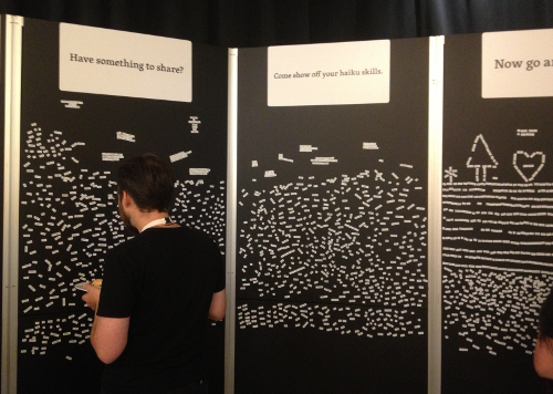 The WordPress / Automattic interactive Haiku Wall