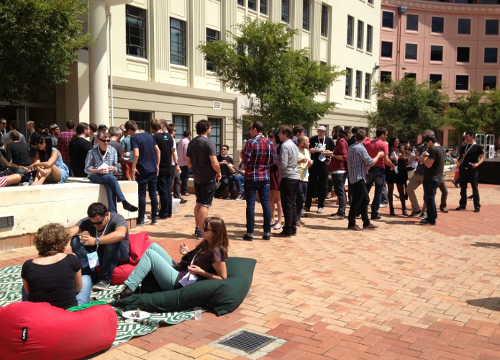 Breakout time between sessions in Civic Square