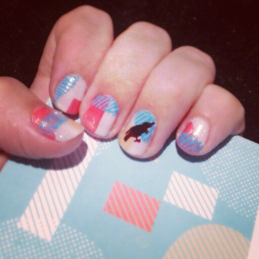 Webstock inspired nail art