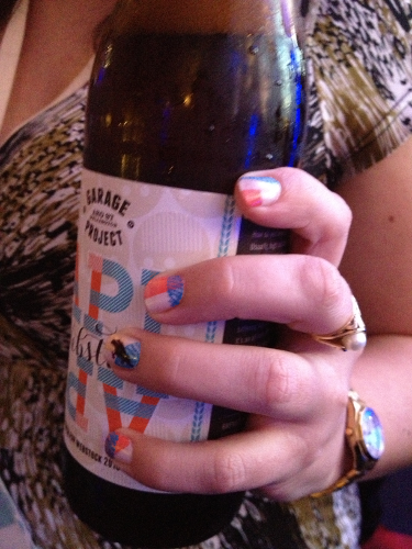 Webstock inspired beer and nail-art