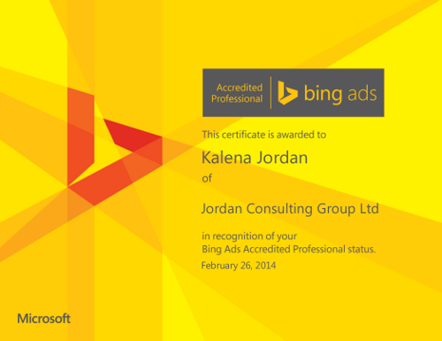 Bing Ads accreditation